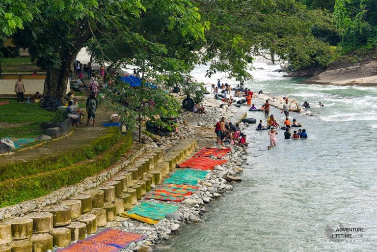 Washing and River Tubing in the Bahorok River