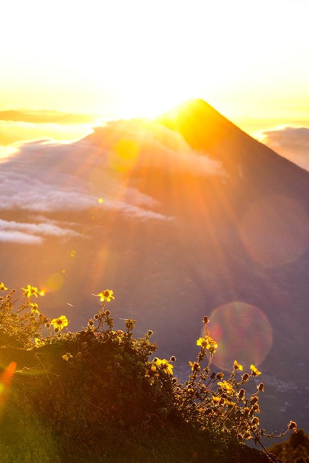 Vocan de Fuego at dawn, Guatemala